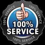 100 % Service